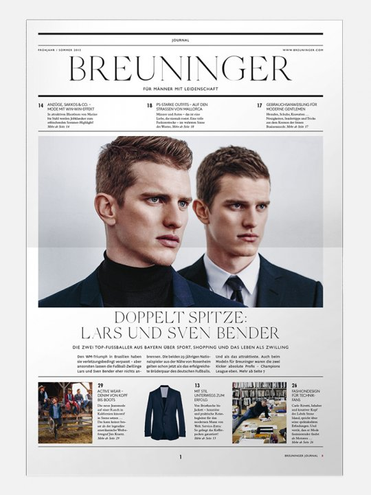Breuninger - The Corporate Journal for Men